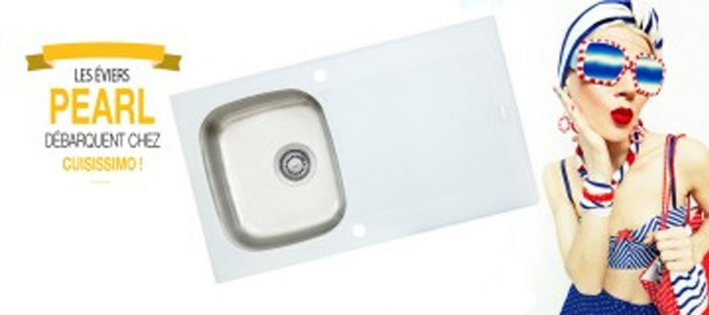 pearl un vier en verre au caract re bien tremp quipements de cuisine. Black Bedroom Furniture Sets. Home Design Ideas