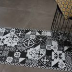 Tapis en vinyle - Carreaux de Ciment PATTY noir