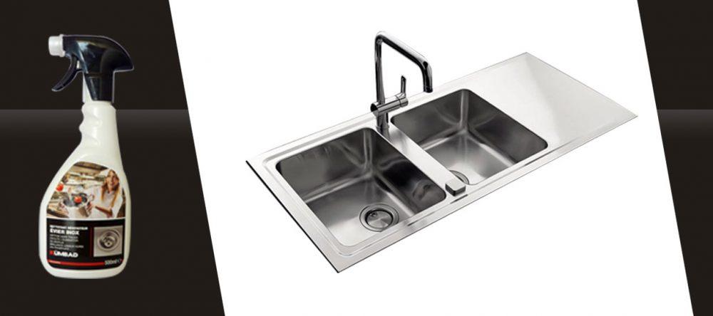 Un produit d'entretien Kümbad pour l'entretien de vos surfaces en inox