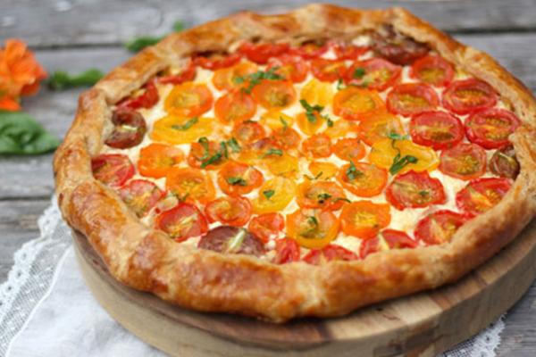 La recette de la tarte aux tomates cerise